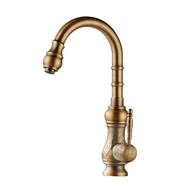 amasra antique brass kitchen sink faucet with hot and cold mixer - Brass Kitchen Sink