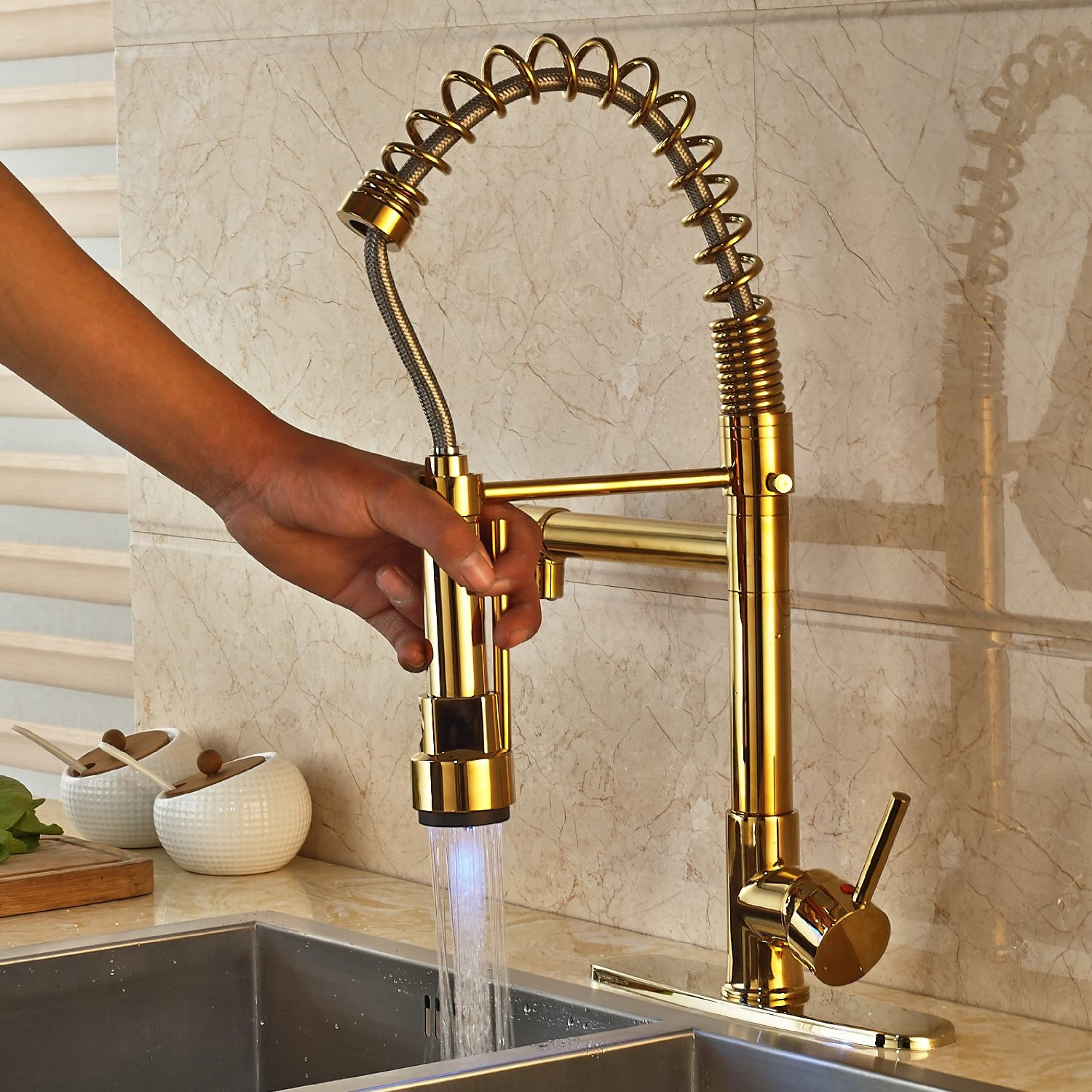 deck mounted kitchen sink faucet with pull down spray doubs deck mounted kitchen sink faucet with pull down spray