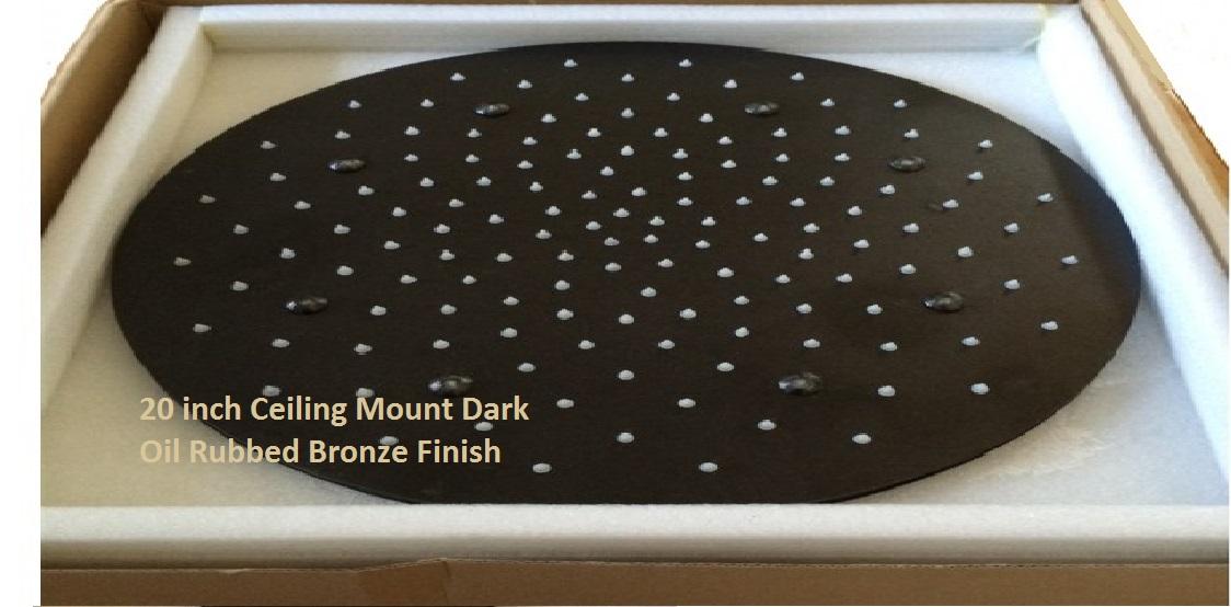 20 Oil Rubbed Bronze Round LED Rain Shower Head