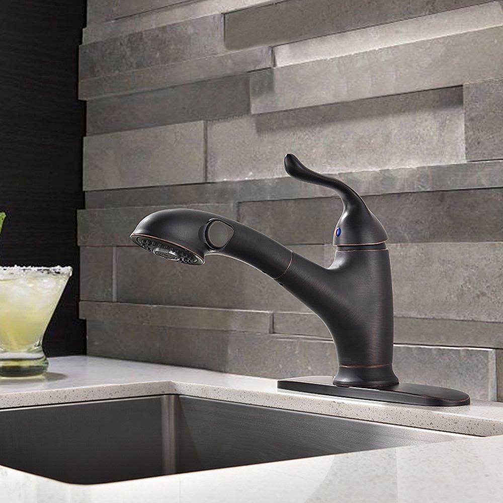 mona oil rubbed bronze kitchen sink faucet moa oil rubbed nickel kitchen sink faucet
