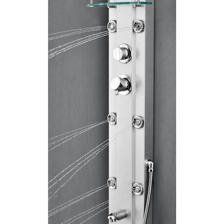 Nanaimo Aluminium Rain Fall Shower Panel Set With Massage System Hand Shower