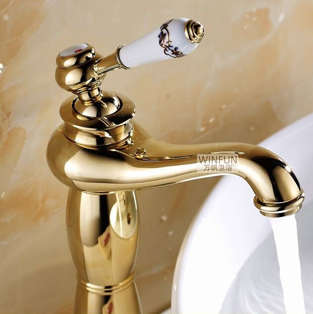 Bathroom Faucets Gold Finish tivoli vessel sink faucet gold finish
