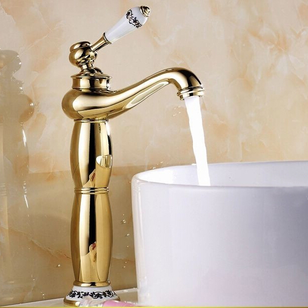 Tivoli Vessel Sink Faucet Gold Finish