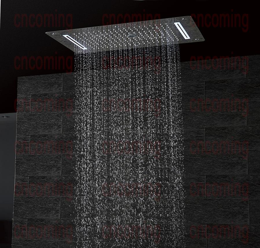 Reno Brass shower set 6 functions 700x380 LED ceiling Shower