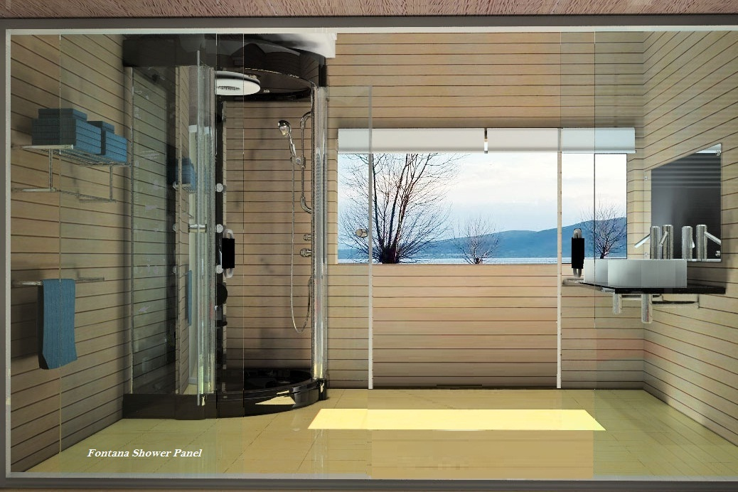 the durable versatility of stainless steel shower panels