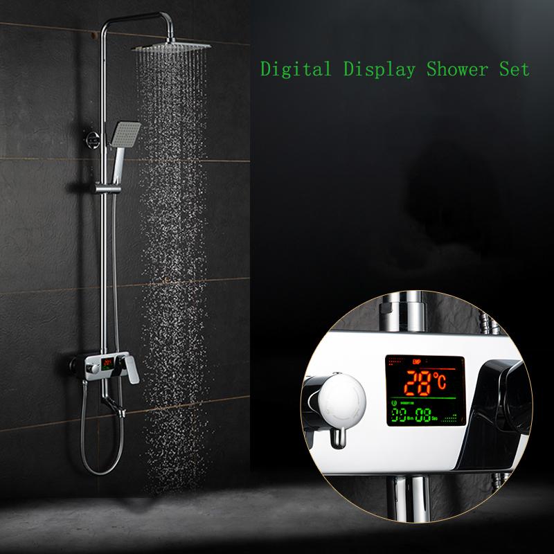shower faucet. digital display shower faucet water Digital Display Shower Faucet  Water Powered