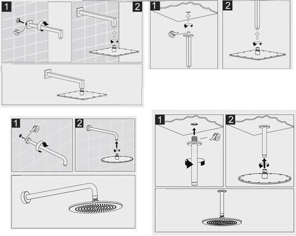 shower head installation instructions