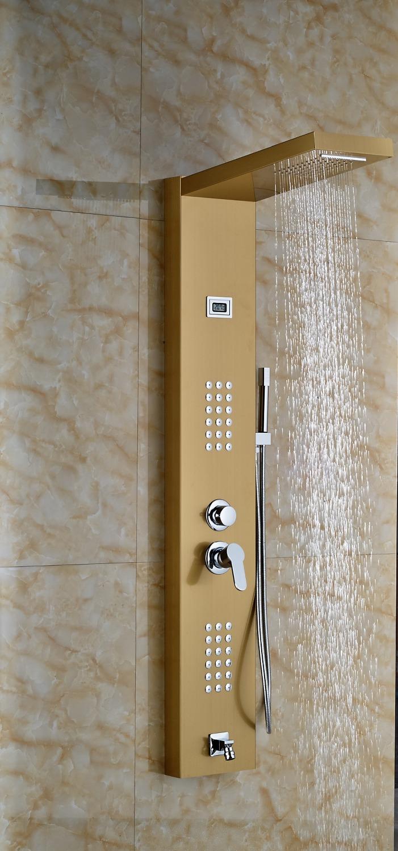 Gold finished bathroom shower set shower column