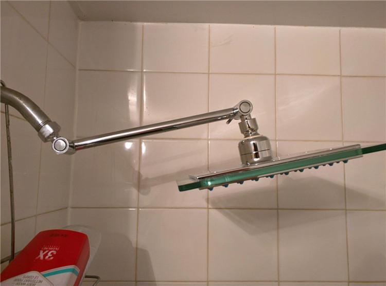 Signature 9 Inch Adjustable Height Shower Head Arm Shower