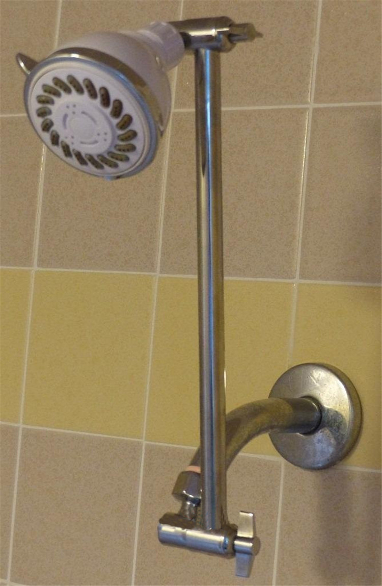 Signature 9 Inch Adjustable Height Shower Head Arm Shower Arm Extension