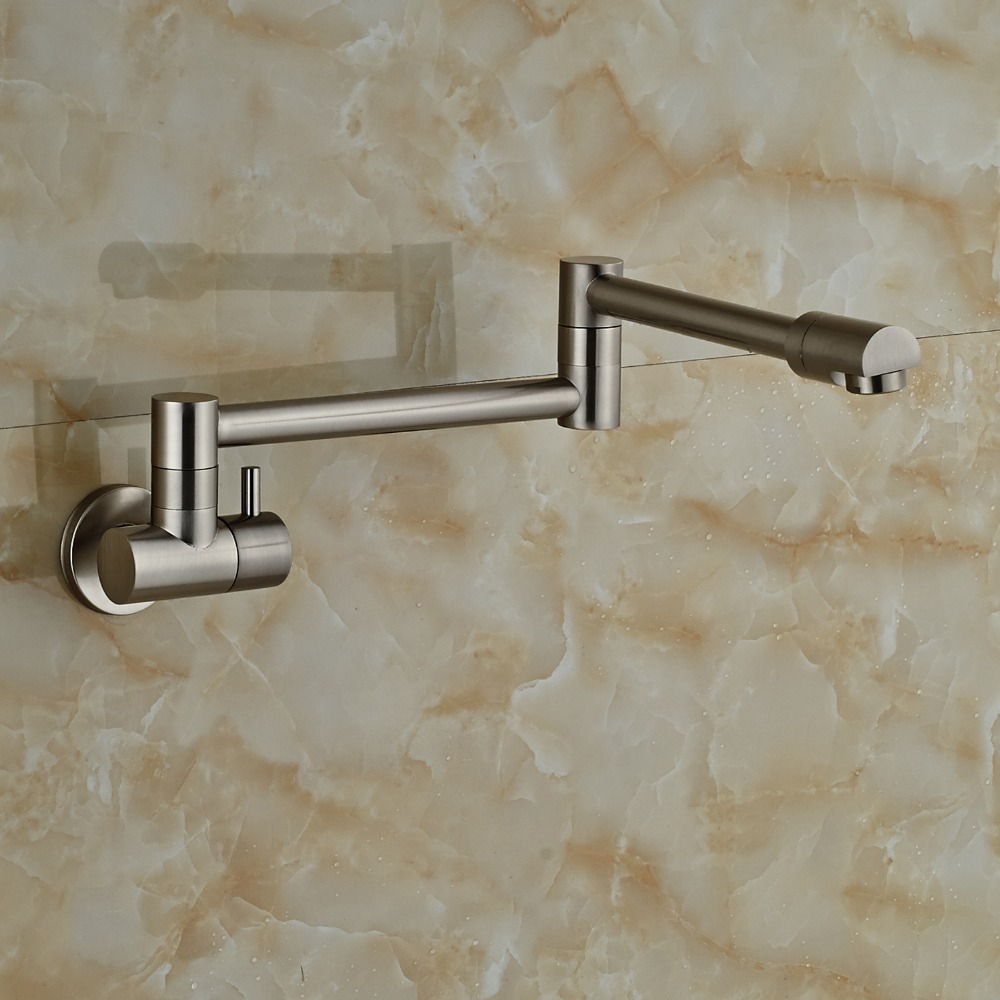 Fontana Faucets Brushed Nickel Wall Mount Bathtub Faucet
