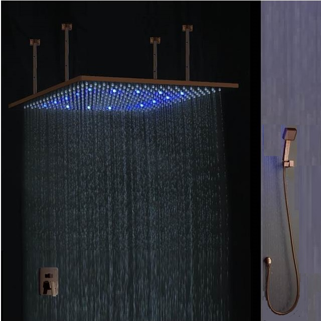 Rain Shower Head fontana oil rubbed bronze square color changing led rain shower head