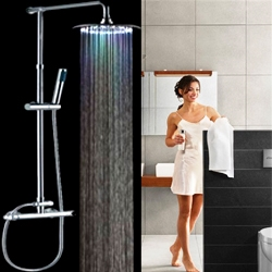 fontana multi color led shower set with shower head handheld shower and shower faucet