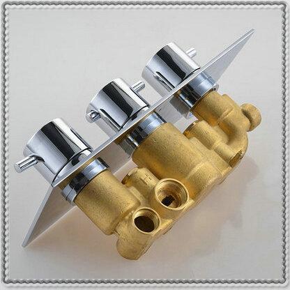 Fonatana-3-dials-3-ways-thermostatic-mixer-brass