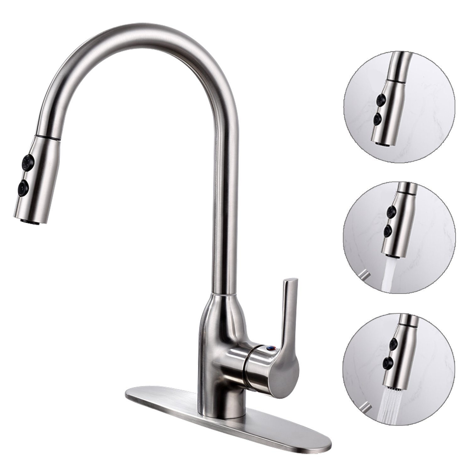 Abrantes Kitchen Sink Faucet with Pull Out Sprayer