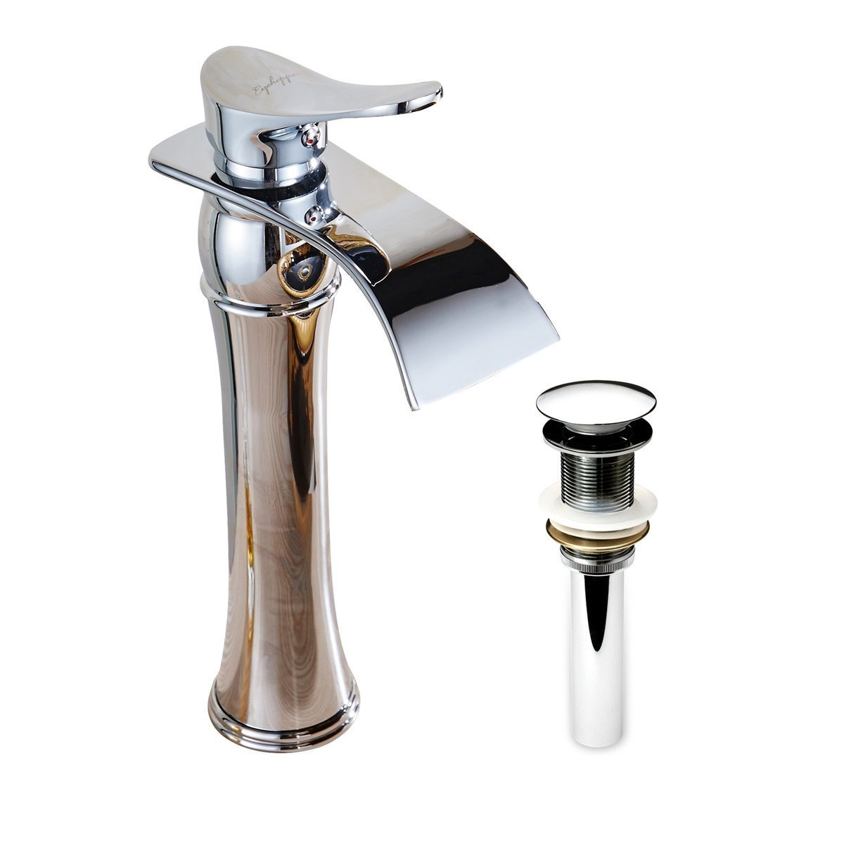 Alajuela Deck Mounted Single handle Water Fall Bathroom Sink Faucet