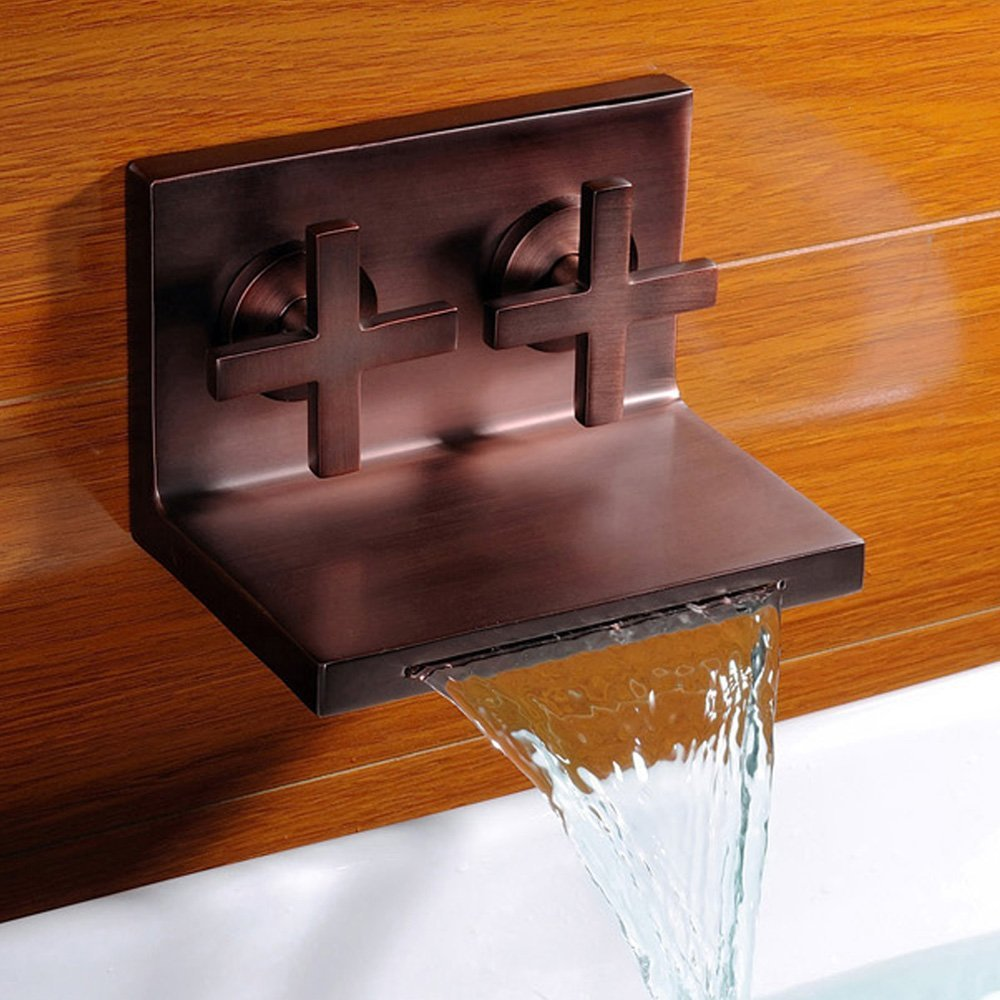 bathroom shower waterfall modern fountain the faucets vessel faucet bathtub for sink bronze