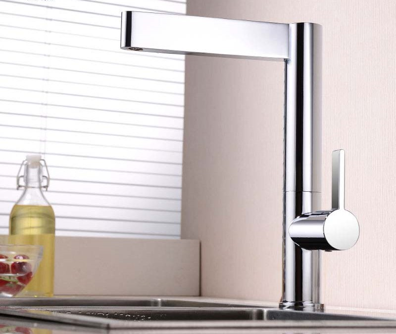 Ancona Single Handle Brass Deck Mounted Kitchen Faucet