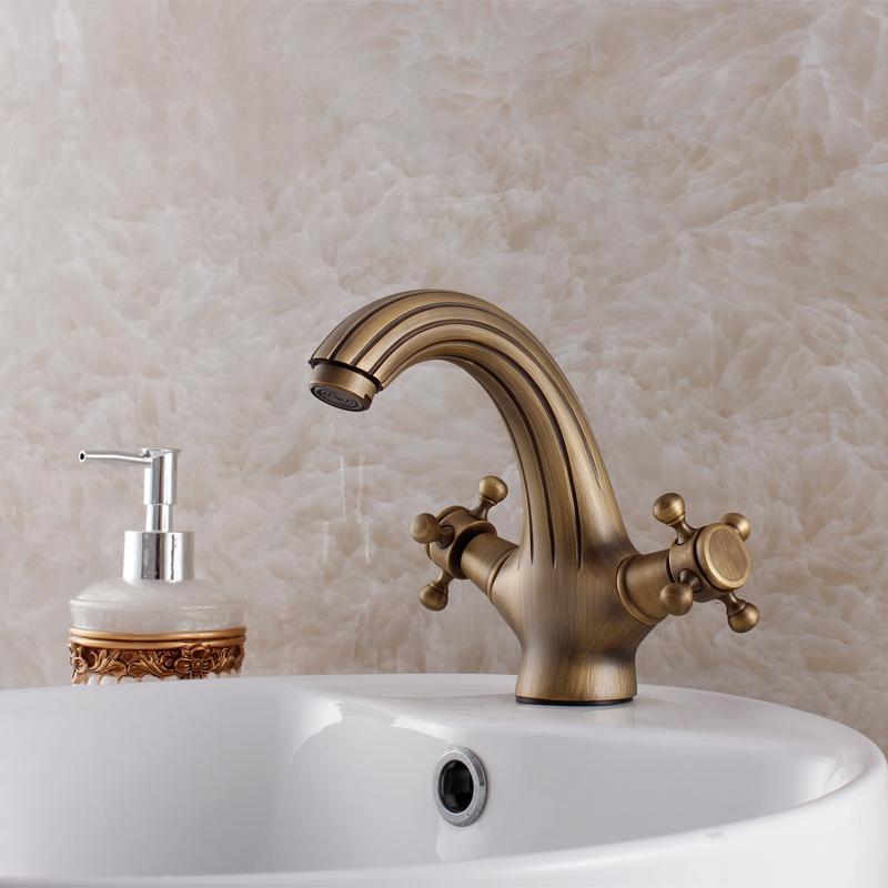 Brio Antique Bronze Bathroom Basin Faucet Roma Style Vintage Solid - Antique bronze bathroom fixtures