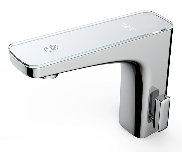 Fontana Commercial Automatic Temperature Control Reno Digital Temperature Display Hot and Cold Commercial Sensor Faucet