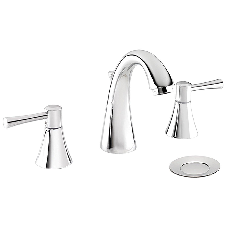Baracoa Deck Mount Dual Handle Bathroom Sink Faucet