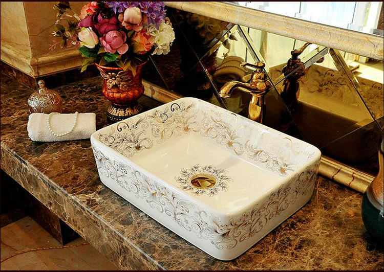 amazing marble countertop sink design and modern faucet.htm bari ceramic oval rectangular artistic countertop bathroom sink  bari ceramic oval rectangular