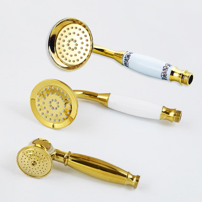 Beauvais Hand Held Gold 3-Styles Rain Shower Head