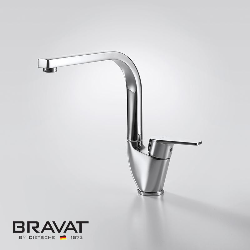 Bravat Deck Mounted Single Handle Kitchen Sink Faucet