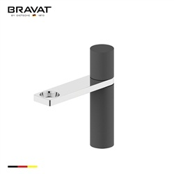 Bravat Modern Oil Rubbed Bronze With Chrome Finish Bathroom Faucet