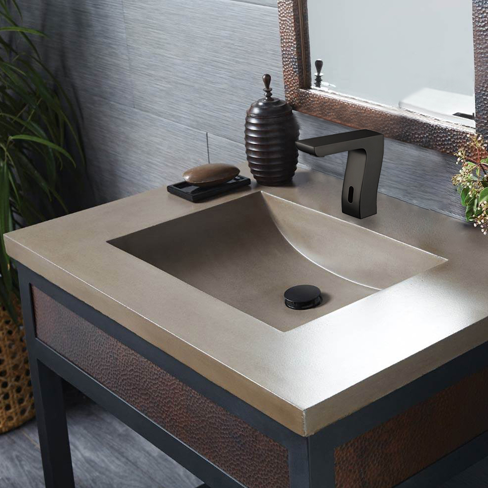 Bravat Trio Commercial Automatic Motion Sensor Faucet Oil Rubbed Bronze Finish