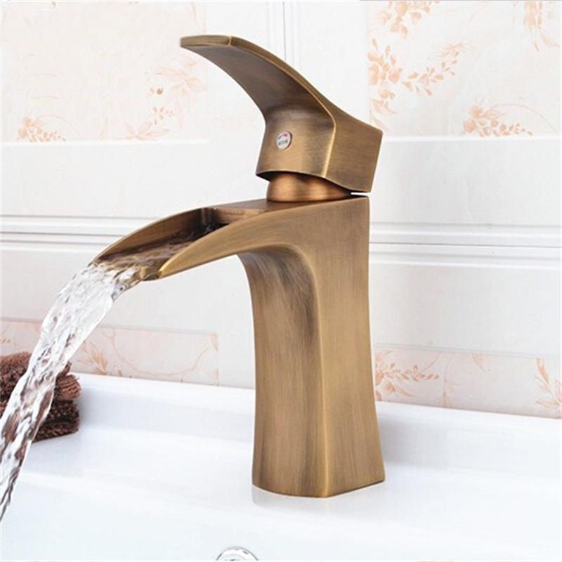 Cesena Eurostyled Single Handle Antique Brass Bathroom Faucet