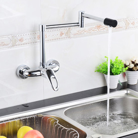 Fontana Westminister Wall Mount Folding Thermostatic Kitchen Faucet