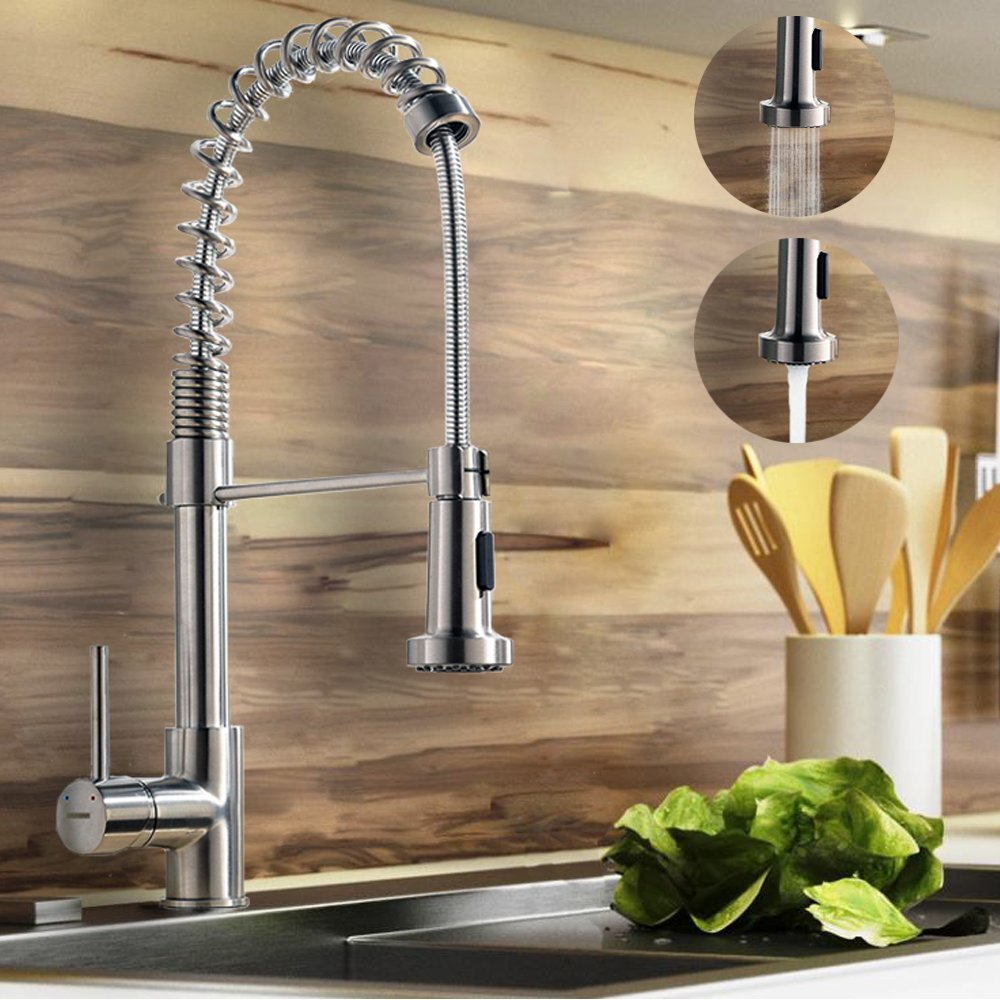 Kitchen Sink Specifications Constantine brushed nickel kitchen sink faucet with pull down sprayer constantine brushed nickel kitchen sink faucet specifications workwithnaturefo