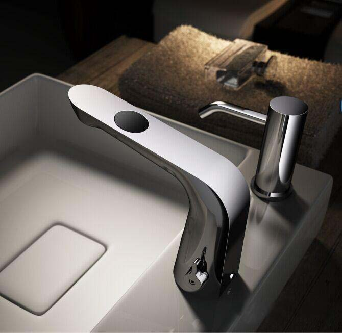 Crete Dual Sensor Faucet with Hot and Cold Mixer