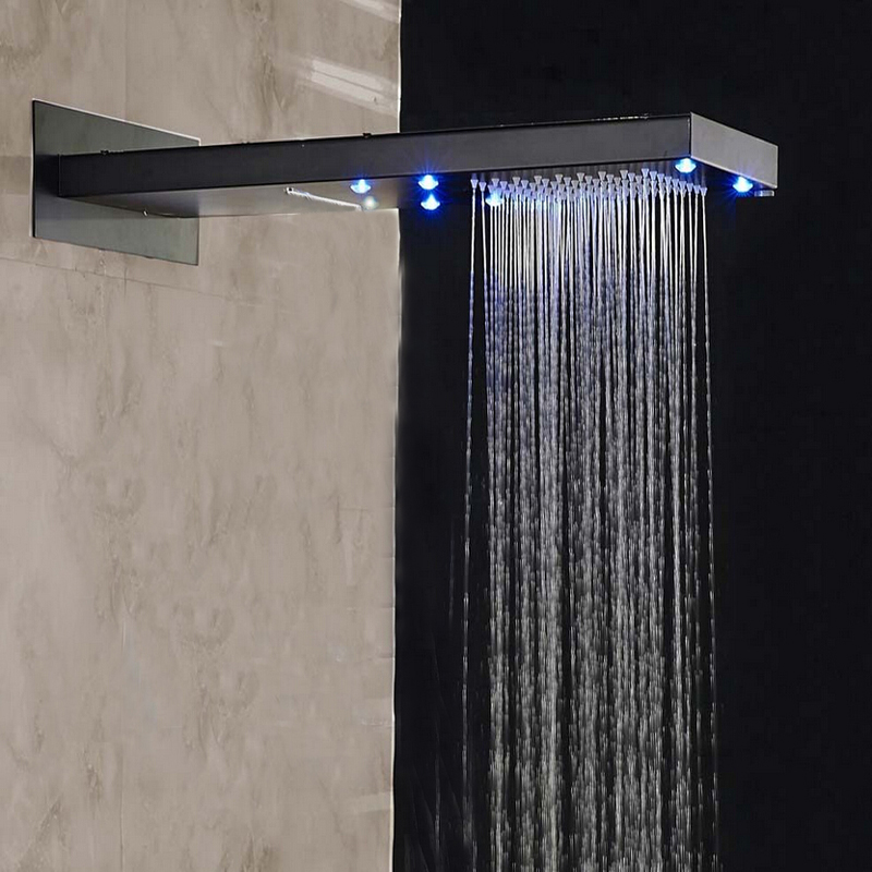 Doccia Oil Rubbed Bronze Wall Mounted Shower Set With
