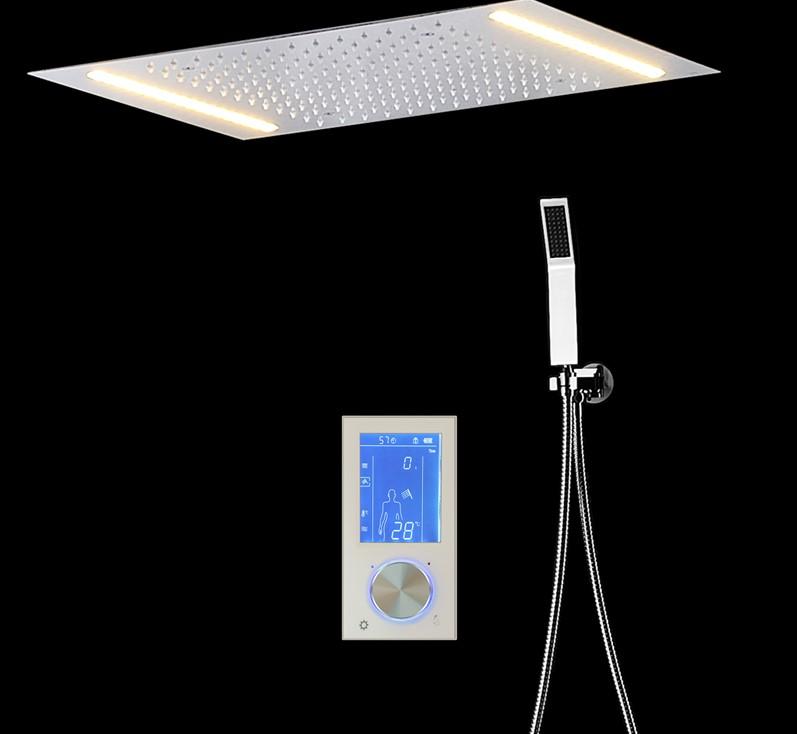 Emilia Posh LED Digital Control Thermostatic Rainfall Shower Set
