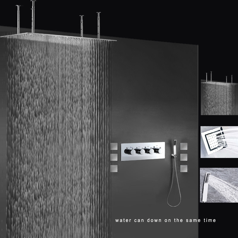 Fontana Lima Luxury Stainless Steel Shower Set