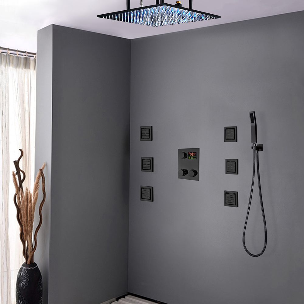 Fontana Royal Oil Rubbed Bronze Digital Rainfall LED Shower System