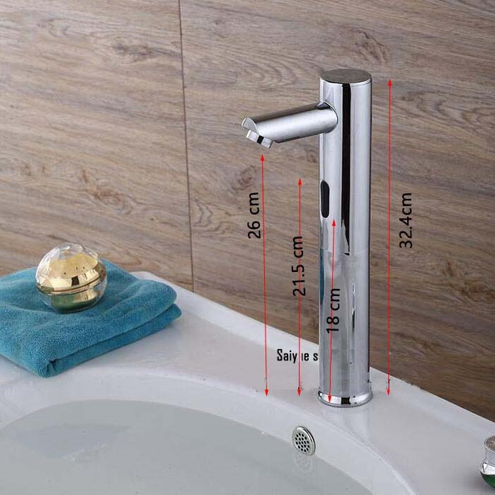 VELIA CHROME FINISH AUTOMATIC BASIN SINK FAUCET