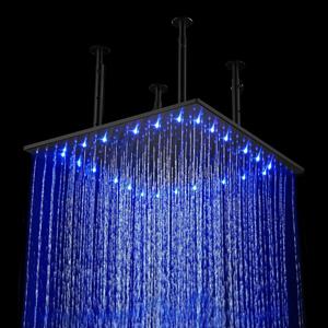 "Fontana 24"" Oil Rubbed Bronze Square Rainfall LED Showerhead"