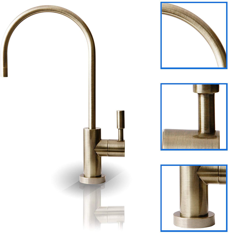 Fontana Banes Antique Brass Ceramic Disc kitchen Sink Designer Faucet