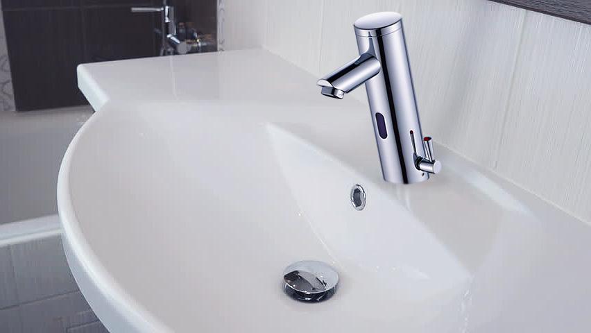Fontana Commercial Temperature Control Chrome Platinum Thermostatic Automatic Sensor Faucet