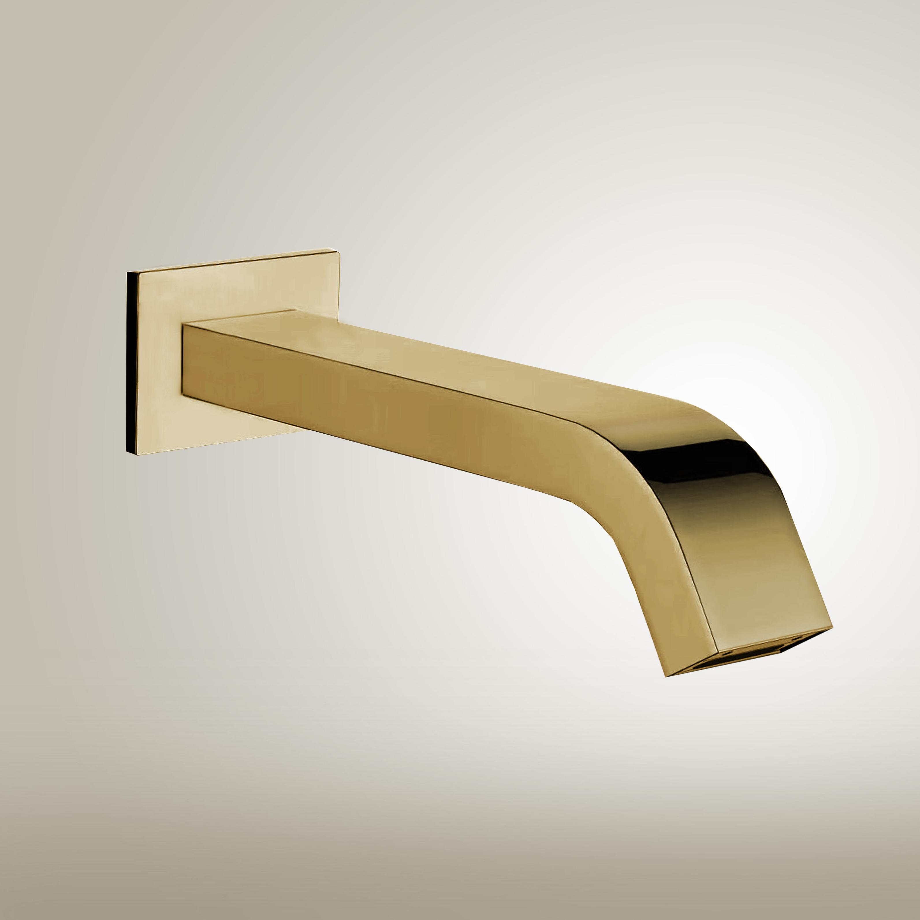 Fontana Commercial Automatic Wall Mount Brushed Gold Sensor Bathroom Faucet