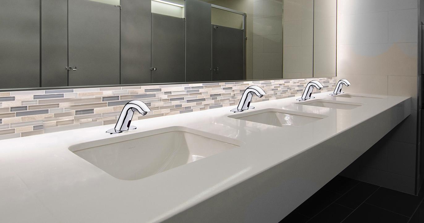 Fontana Conto Commercial Chrome Automatic Motion Sensor Bathroom Faucet