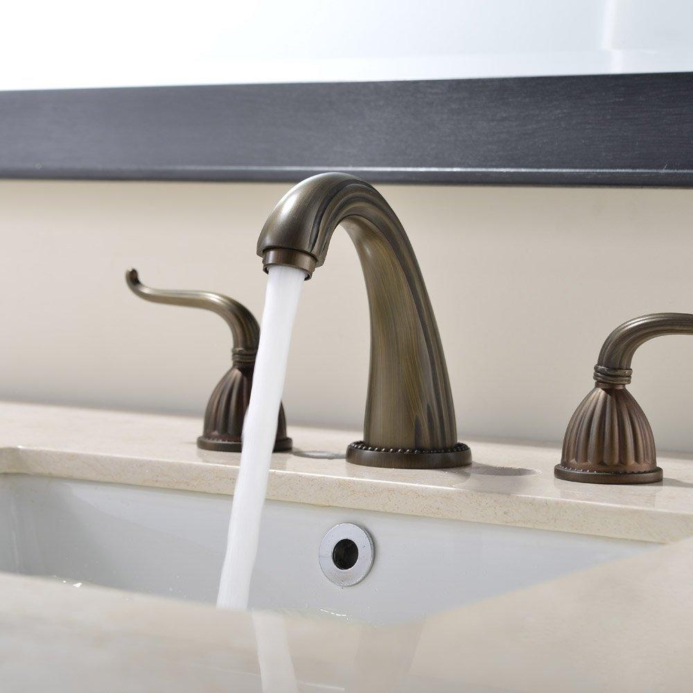 Fontana Guelma Antique Brass Bathroom Sink Faucet