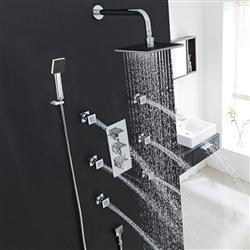 Fontana Kiev Chrome Thermostatic Shower System Set