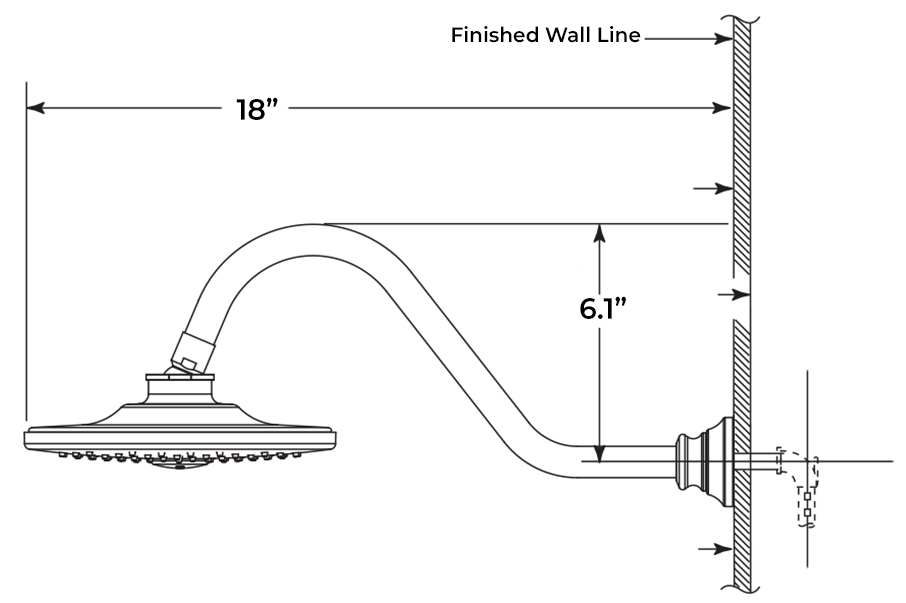 Shower Head Installation Instructions For Wall Mount