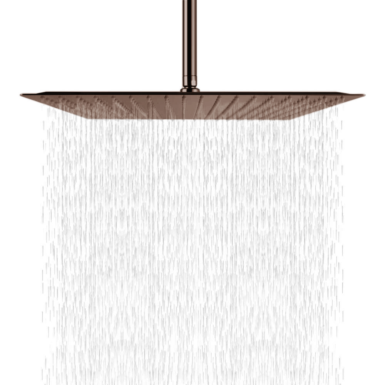 Fontana Light Oil Rubbed Bronze Thin Luxury Bathroom Square Rain Shower Head