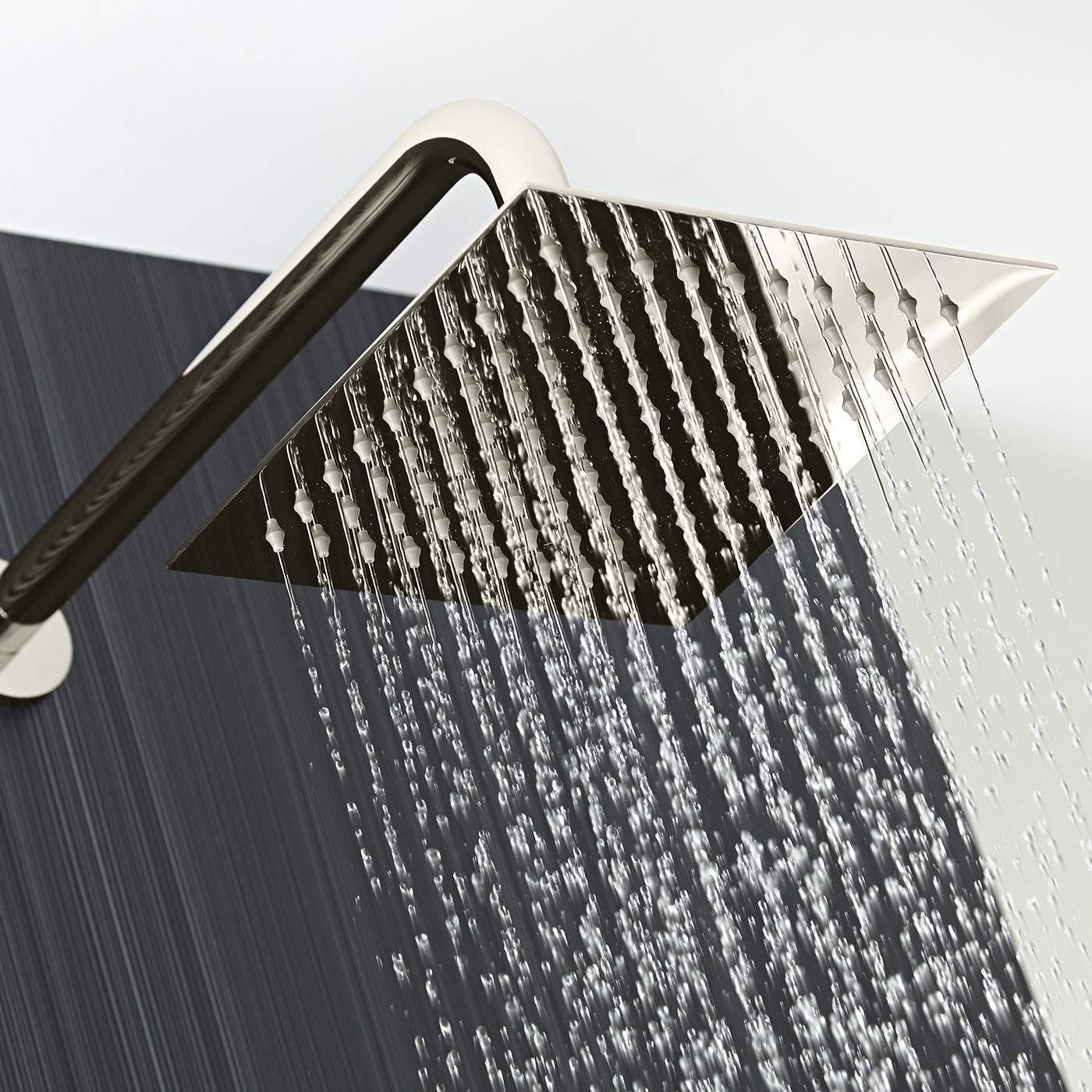 Fontana Liverpool Wall Mount Thermostatic Rainfall Shower Set System