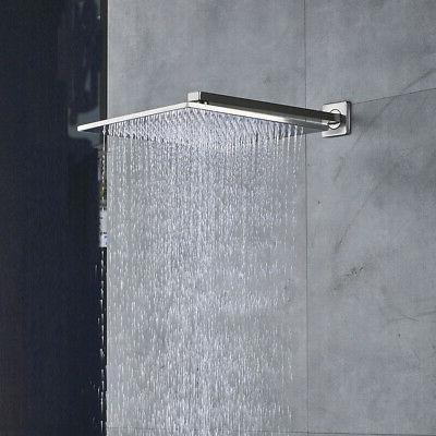 Fontana Monro Chrome LED Shower Set - LED Shower Head, Multilevel Mixer